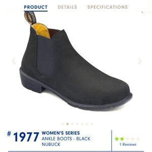 Blundstone black Chelsea-style ankle boots size 8